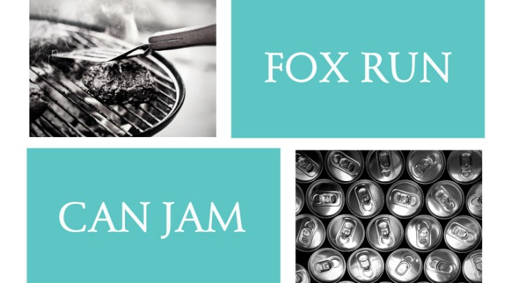Can Jam Event Poster including photos of cans and a grill