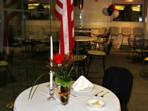 Fallen Soldier place setting to honor those who have made the ultimate sacrifice