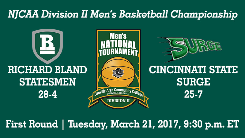 No. 5 Richard Bland Plays Cincinnati State In First Round Tuesday Night