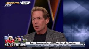 Skip Bayless Rails Against Joe Flacco