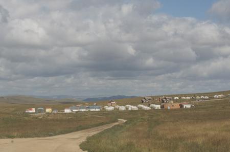 Hustai ger camp at park headquarters