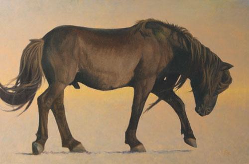 Mongol Horse #2-Ikh Nart Stallion oil 24x36 (price on request)