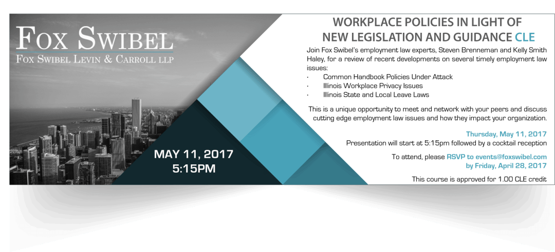 2017 Employment CLE Invitation