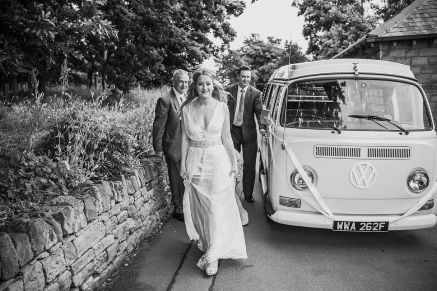 VW camper van for weddings