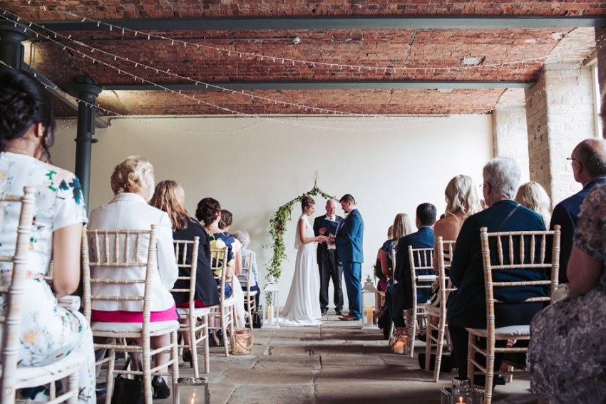 Yorkshire industrial wedding venue at the Arches Mill, Halifax