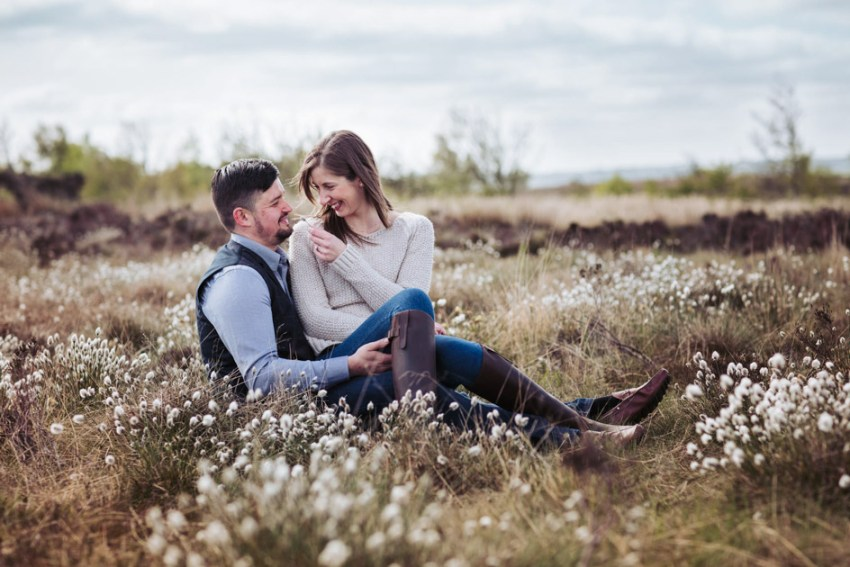 Moorland engagement photography | Pre wedding photographer Yorkshire UK