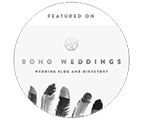 Boho Weddings featured photographer