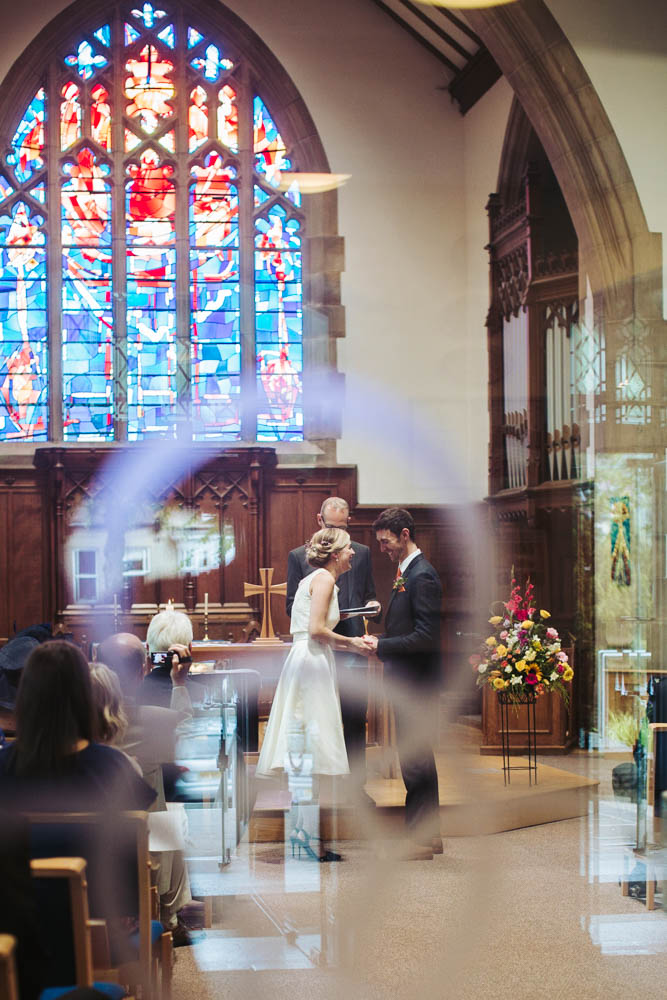 Wedding ceremony at St. Andrews Church, Sheffield, Yorkshire.