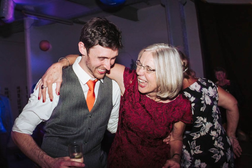 Groom dancing with his mum.