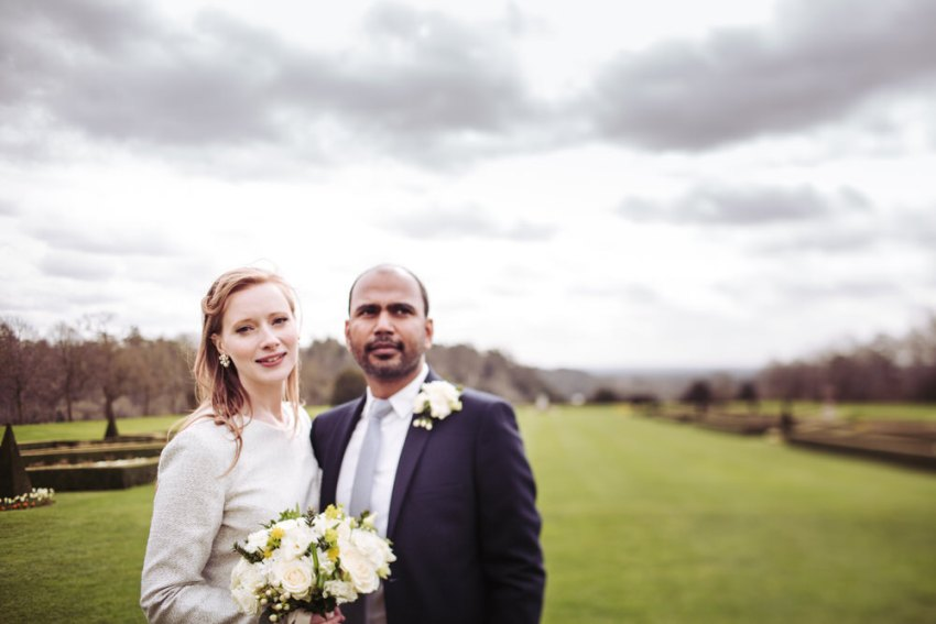 Cliveden House wedding photographer. Berkshire photography of bride and groom.
