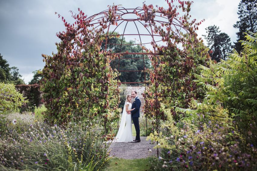 Fig House wedding photography in the walled garden with domed trellis