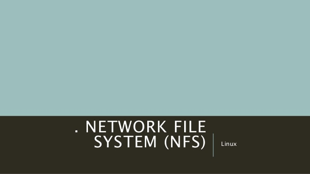 How to install and configure NFS
