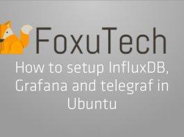 Setup Influxdb, grafana and telegraf on Ubuntu