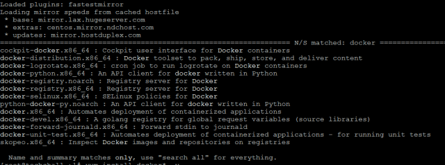 docker search