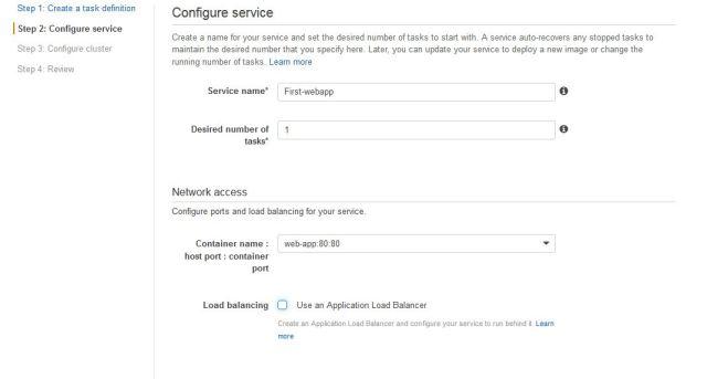 configure service