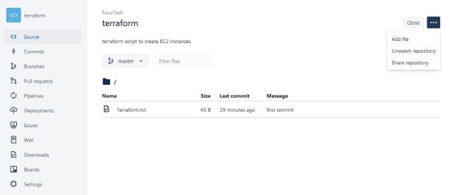 How to create and merge a repository on Bitbucket - FoxuTech