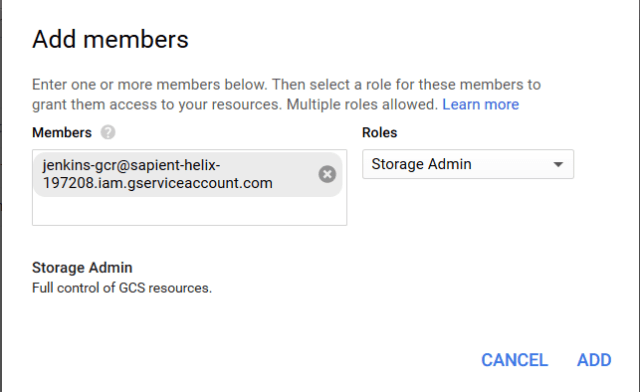 add gcr storage member