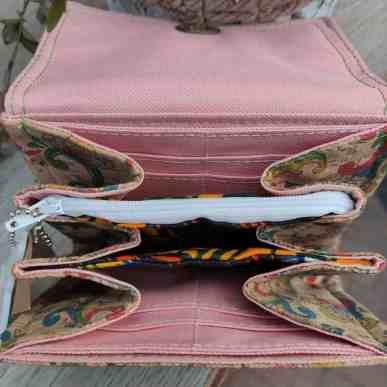 Kurk portemonnee klein maar groots aan de de binnenkant binnenkant