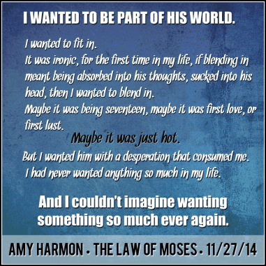 the law of moses Amy Harmon WANTEd
