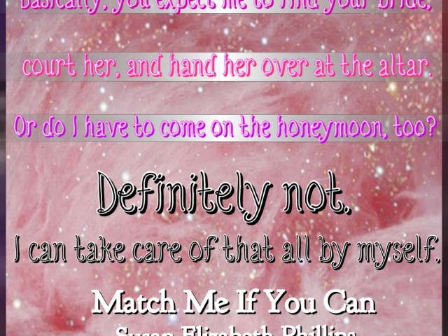 Review: Match Me If You Can by Susan Elizabeth Phillips