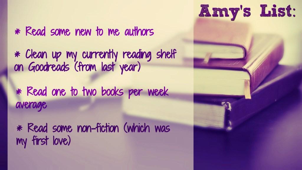 Amy's resolution list