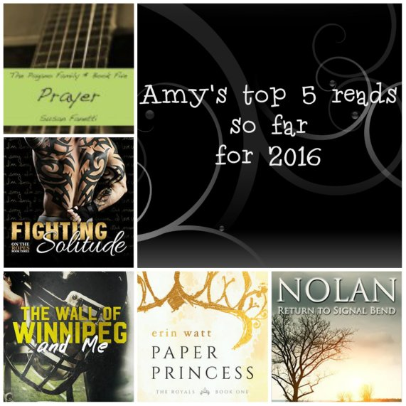 amy's top 5 reads so far for 2016