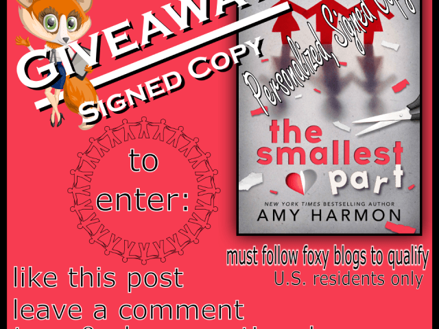Personalized signed copy of The Smallest Thing by @aharmon_author #giveaway