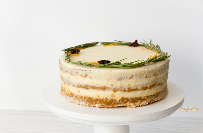 Морковный торт со сливочным сыром