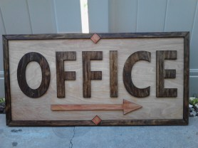 """36"""" x 18"""" Birch and Pine Sign. Border and letters laser cut, hand sanded and sealed with Danish Oil. Background .75"""" thick Birch Plywood. All sealed with double waterproof application."""