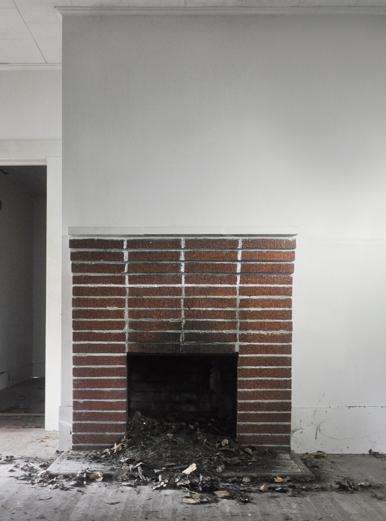 Fireplace Makeover Painting The Brick Fireplace White