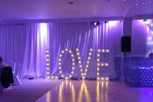 5ft traditional love letter hire Ayrshire