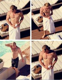 Chris Hemsworth in Towel