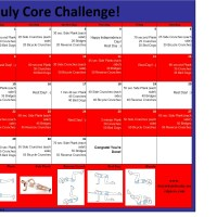 July Core Fitness Challenge