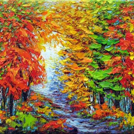 4. Margaret Chwialkowska_Autumn Stroll, Gatineau_oil