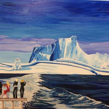Luminita_Serbanescu_The Last Polar Bear_2020_Acrylic_36x24x2