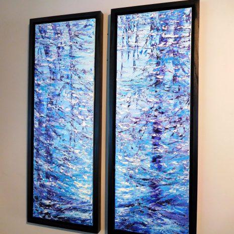 Margaret chwialkowska_ Azure Immersion_framed