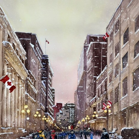 Maurice_Dionne_Light Snow on Sparks St_wc_13X17X2