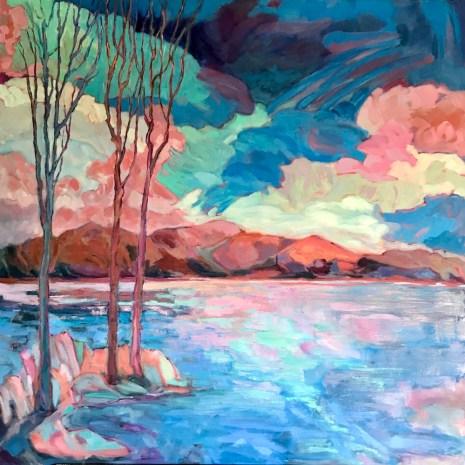10_Julie_Mercantini_A_Mystic_Lake_oil_30x30x1.5
