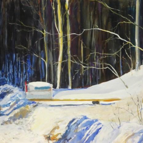 10_Scott_Rubie_Mailbox in the Snow_acrylic on panel_2020_32 x 18 x ¼
