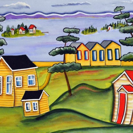 Heather_Lovat-Fraser_Three Little Cabins_2020_Acrylic_18x22x3