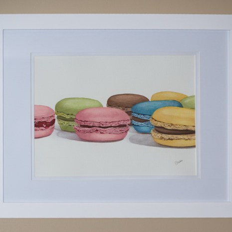 Isabelle_Jerome_Petits macarons_2020_watercolour_14x18_side view2