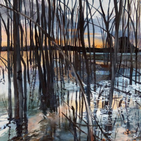 Gwen_Frankton_Graham Creek in Flood (Ottawa River Watershed series) _acrylic_2019_24X18X1.5-500