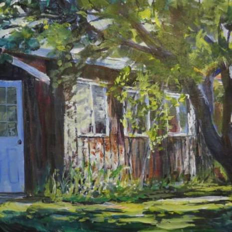 02_Scott Rubie_Morning Sunlight Under the Apple Tree _9 x 16_ Jun 2020