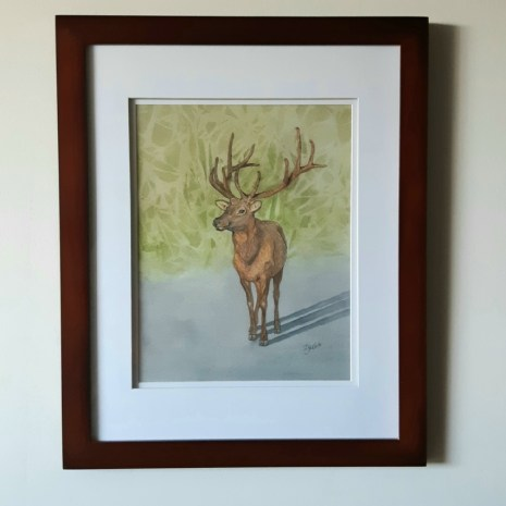 Isabelle_Jerome_Cautious Approach_framed_watercolour_18x14_250$