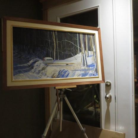 Scott_Rubie_Mailbox_in_the_Snow_framed_image