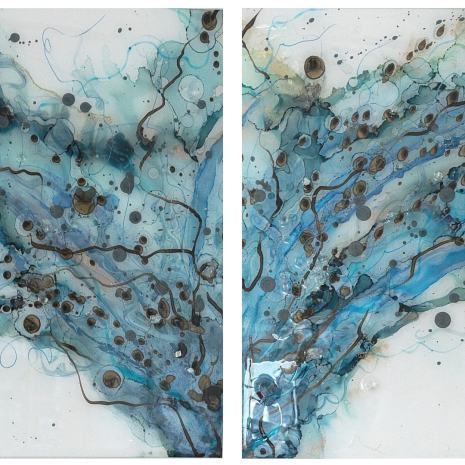 Pam_Stewart_Point of Entry Diptych_MixedMedia_12x12x1.75ea_2021