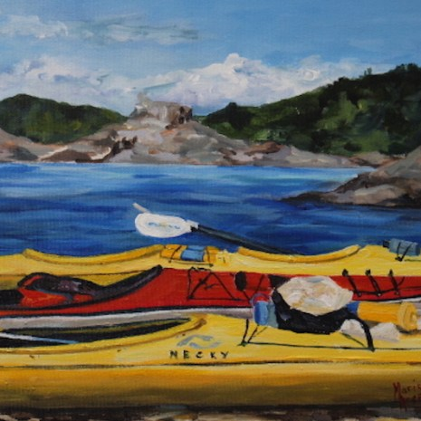 Marie_Arsenault_B.C._Kayaking_acrylic_14x11x1.5__3