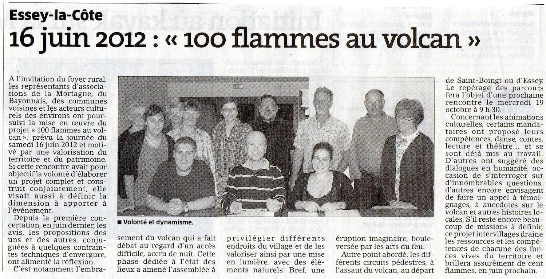 100 flammes au volcan