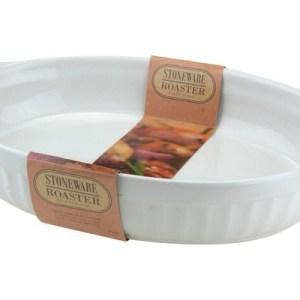 White Oval Roasting Dish
