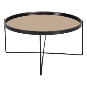 Anzio Satin Black Coffee Table